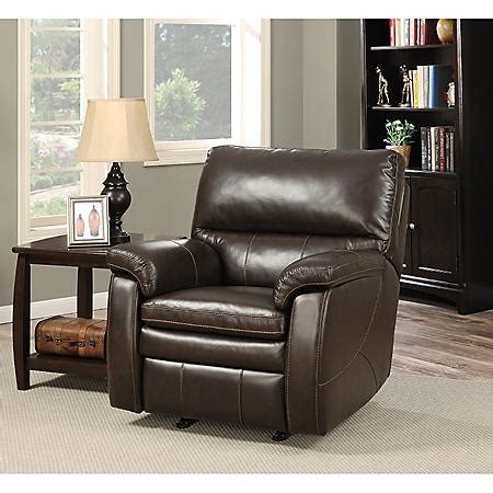 Crawford Leather Recliner With Usb