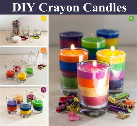 Crayon Diy Candles