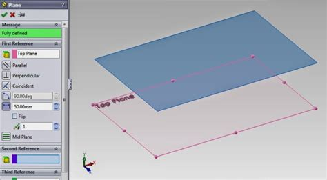 Create Planes In Solidworks