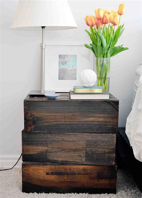 Creative Diy Nightstands Pinterest