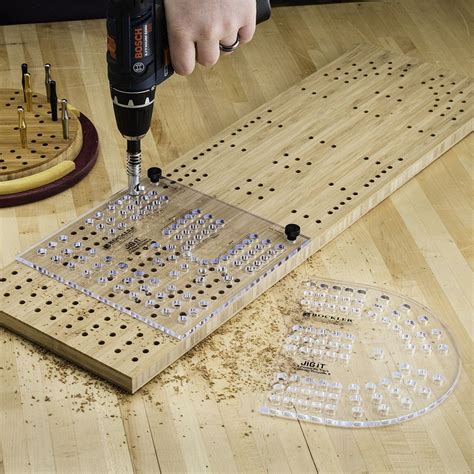 Cribbage Board Peg Hole Template