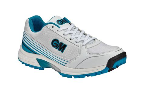 Cricket Shoes Maestro All Rounder - Light Weight Cricket Footwear - Gunn & Moore - Rubber Sole Blue White
