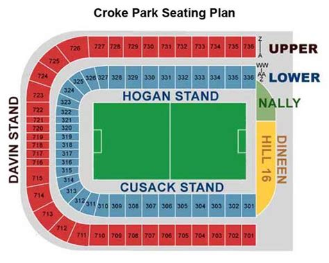 Croke Park Seating Plan Hogan Stand