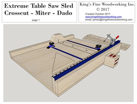 Crosscut Sled For Table Saw Plans
