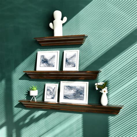 Crown Molding Floating Wall Shelf