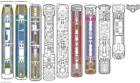 Cruise Deck Plans Rotterdam