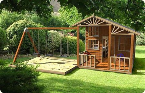 Cubby-House-Swing-Set-Plans