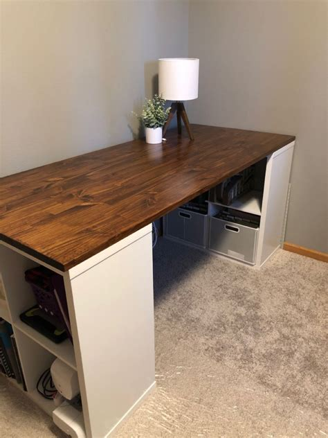 Cube Storage Desk Diy Plans