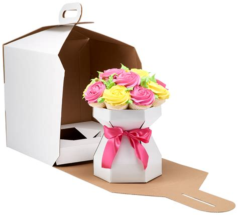 Cupcake Bouquet Box Diy Chrzest