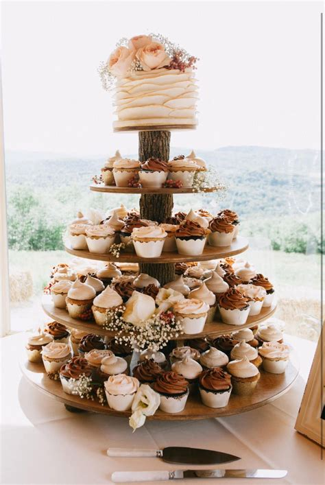 Cupcake Tower Diy Wooden Rustic