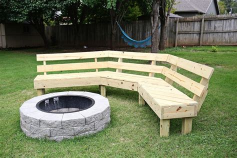 Curved Fire Pit Bench With Back Plans
