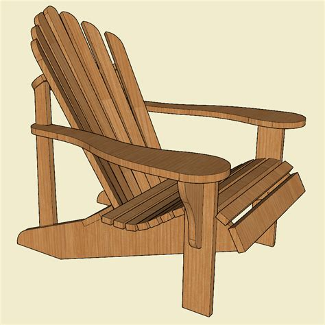 Curved-Comfortable-Adirondack-Chair-Plans