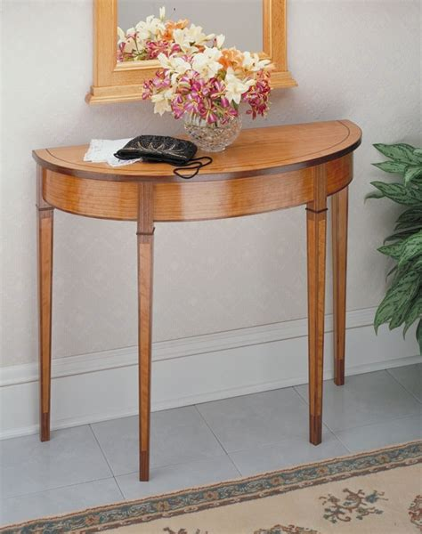 Curved-Hall-Table-Plans