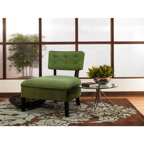 Curves Spring Green Velvet Accent Chair