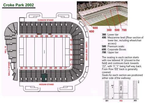 Cusack Stand Lower Seating Plan