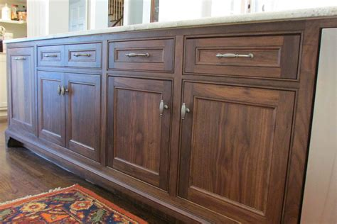 Custom Black Walnut Kitchen Cabinets