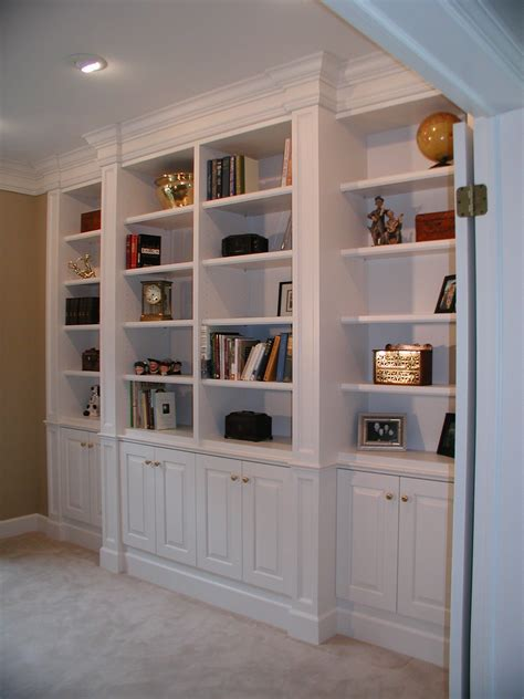 Custom Built In Bookshelf Plans