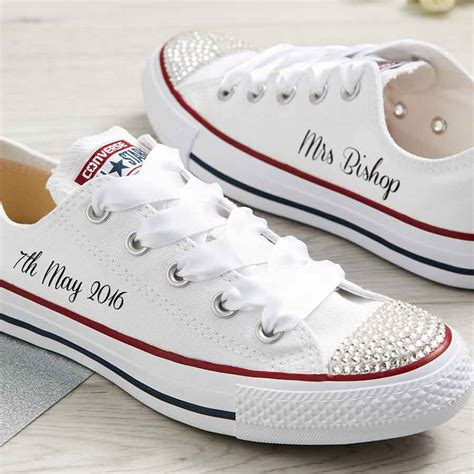 Custom Converse Sneakers For Wedding