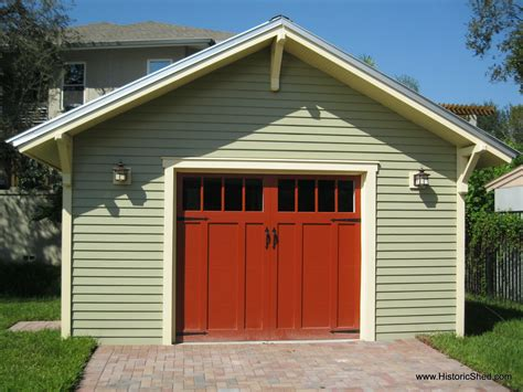 Custom Craftsman Style Single Car Garage Plans