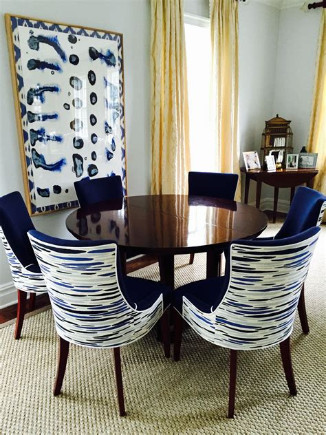 Custom Fabric Upholstered Dining Chairs