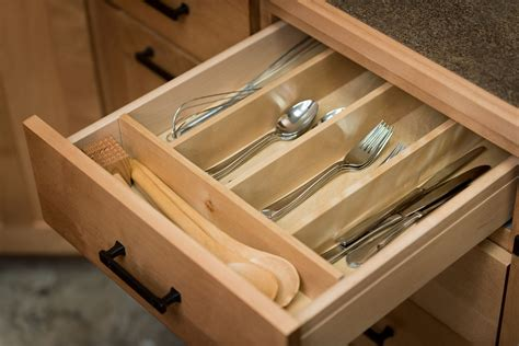 Custom Kitchen Cabinet Drawer And Cabinet Organizers