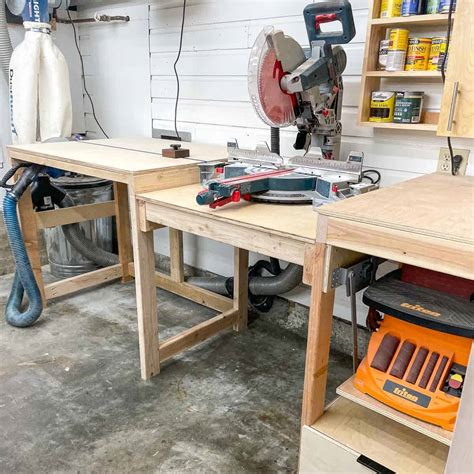 Custom Miter Saw Workstation DIY