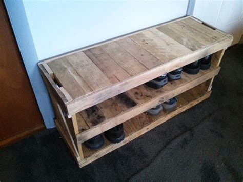 Custom Shoe Rack Diy Bench