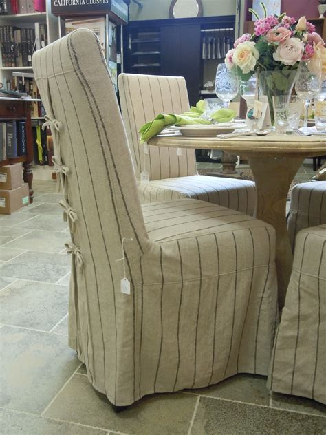 Custom Slipcovered Dining Chairs