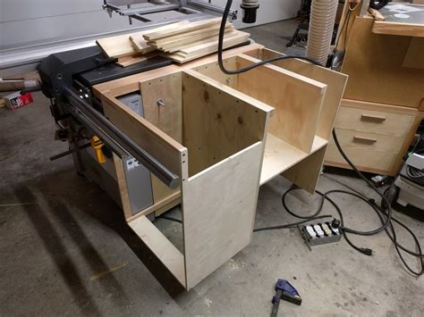 Custom Table Saw Cabinet