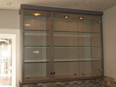 Custom Wall Cabinets With Clear Glass