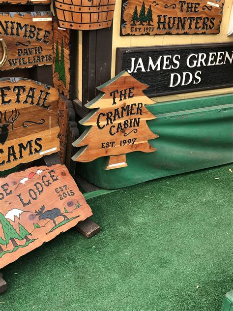 Custom Wood Burning Signs For Cabins