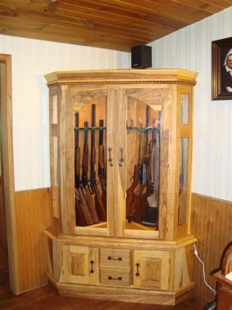 Custom Wood Gun Cabinet Plans
