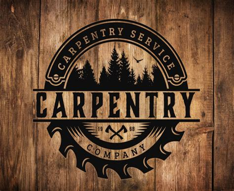 Customizable-Woodworking-Carpentry-Logo