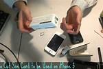 Cut Sim Card for iPhone 5