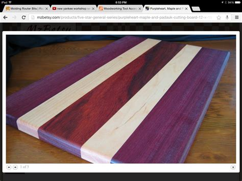Cutting Board Diy Purpleheart
