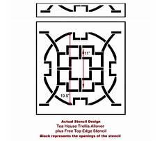 Best Cutting edge stencils trellis pattern