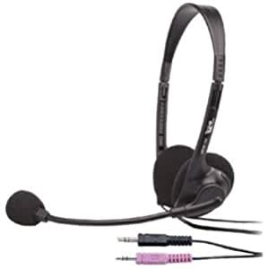 Cyber Acoustics AC-200b Stereo Headset - Over-the-head - AC-200B
