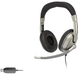 Cyber Acoustics AC-8003 USB Stereo Headset - Stereo - USB - Wired - 20 Hz - 20 kHz - Over-the-head - Binaural - Circumaural - 8 ft Cable - AC-8003