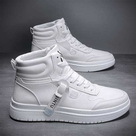 D33022-2.4 inches Taller - Height Increasing Elevator Shoes - White Casual Shoes