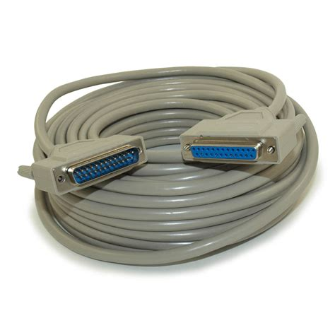 DB25 Male To DB25 Female Extension Serial Straight Thru Cable 100 Ft