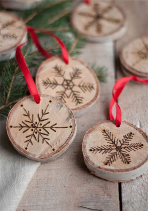 DIY 2016 Wood Christmas Ornaments