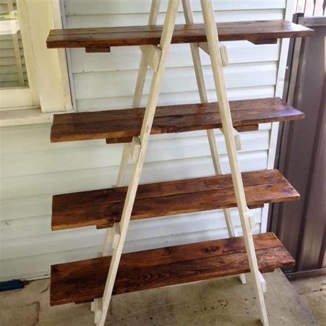 DIY A Frame Ladder Shelf