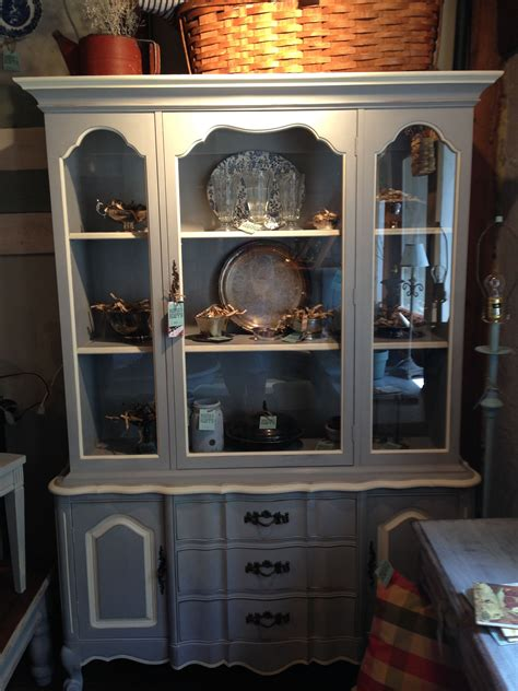DIY Antique China Cabinet Painted White