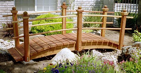 DIY Arched Garden Bridge