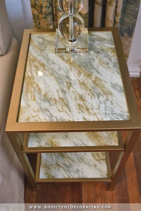 DIY Back Painted Glass Table Top