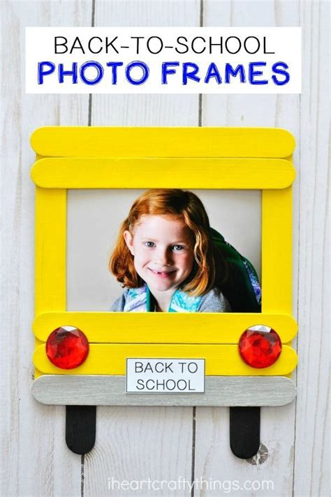 DIY Back To School Photo Frame