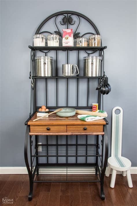 DIY Bakers Rack Makeover