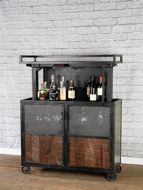 DIY Bar Cart Reclaimed Wood