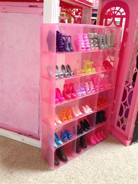 DIY Barbie Shoe Rack