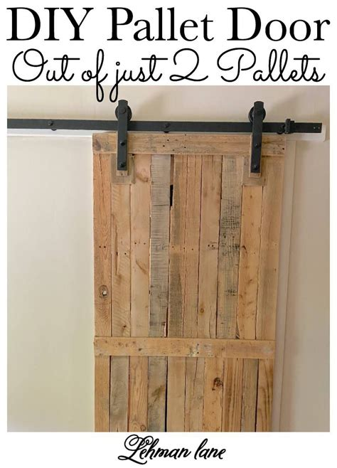 DIY Barn Door From Pallets